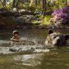 Mowgli takes a swim with Baloo
