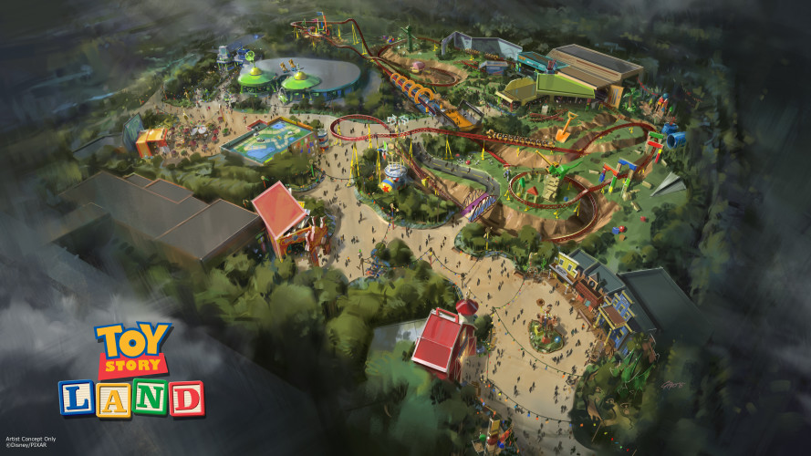 updated Toy Story Land concept art