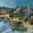 Concept art of Beauty and the Beast area at Tokyo Disneyland.