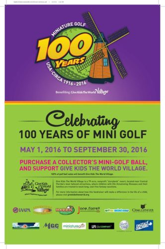 Miniature golf give kids the world