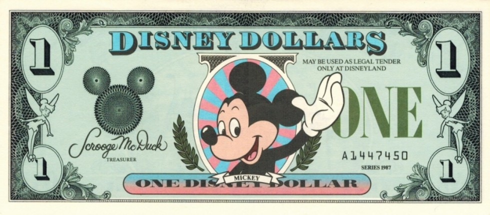 Disney Dollars discontinued
