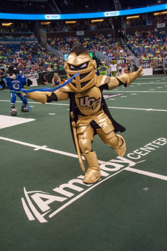 UCF Knightro at the Mascot Games