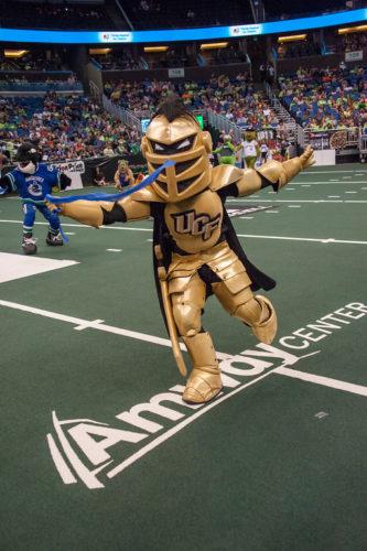 UCF Knightro at the Mascot Games