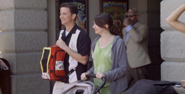 """A scene from """"Walt's Frozen Head"""". That's """"Walt's head"""" in the orange bag."""