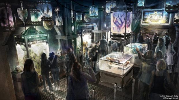 Guardians of the Galaxy Ð Mission: BREAKOUT! Tower of Terror Disney California Adventure interior