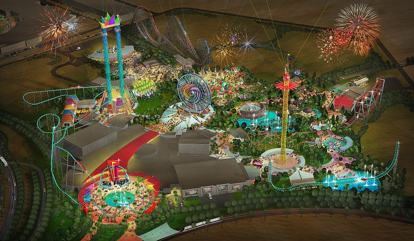 Six Flags Dubai construction