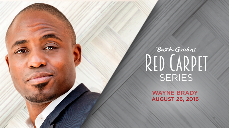 Busch Gardens Tampa Red Carpet Series Wayne Brady