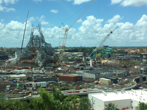 universal's volcano bay water theme park construction 1