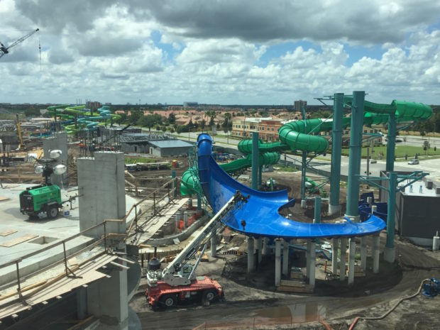 universal's volcano bay water theme park construction 3