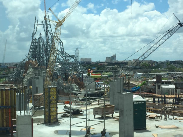 universal's volcano bay water theme park construction 4