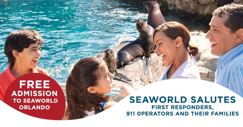 SeaWorld First Responders free admission