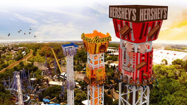 hersheypark hershey triple tower drop