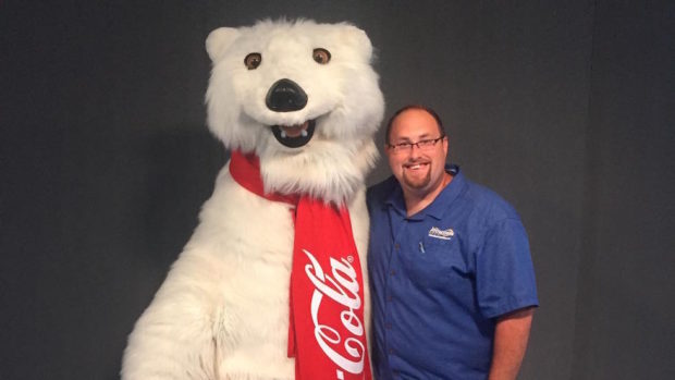 coca-cola polar bear character disney springs