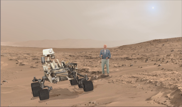buzz aldrin and curiosity destination mars