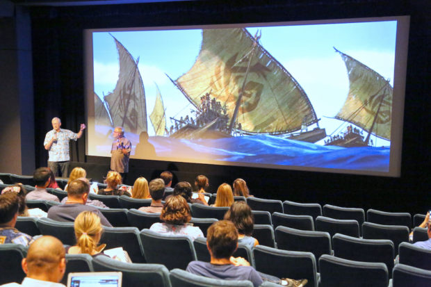 Directors Jon Musker and Ron Clements present at the Moana Long Lead Press Day on July 27, 2016 at Walt Disney Studios in Burbank, Calif. Photo by Alex Kang/Disney.