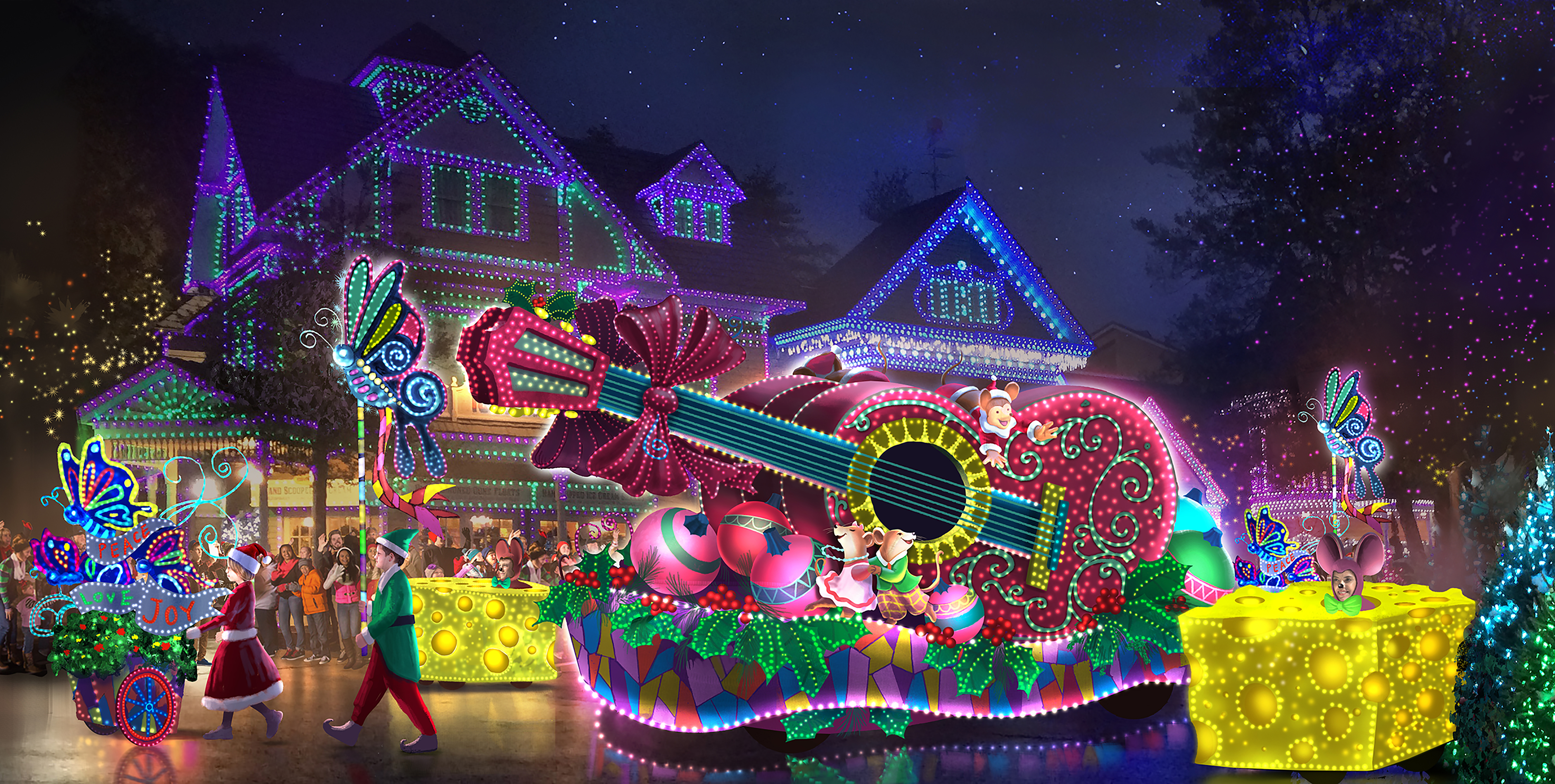 dollywood announces 2 5 million parade of many colors