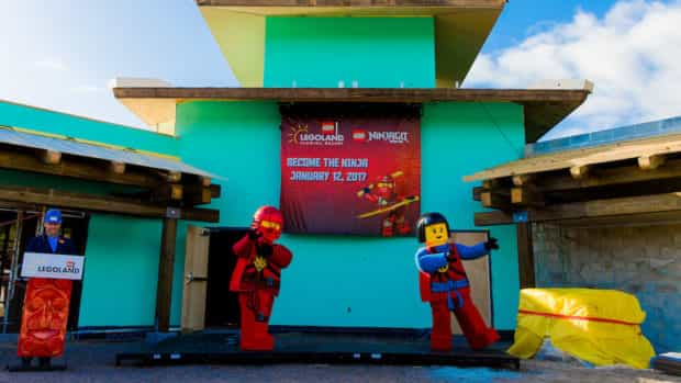 lego ninjago world legoland florida construction