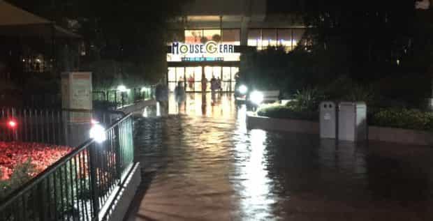 rain and flooding at epcot