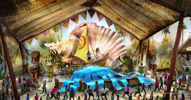 Hong Kong Disneyland moana show