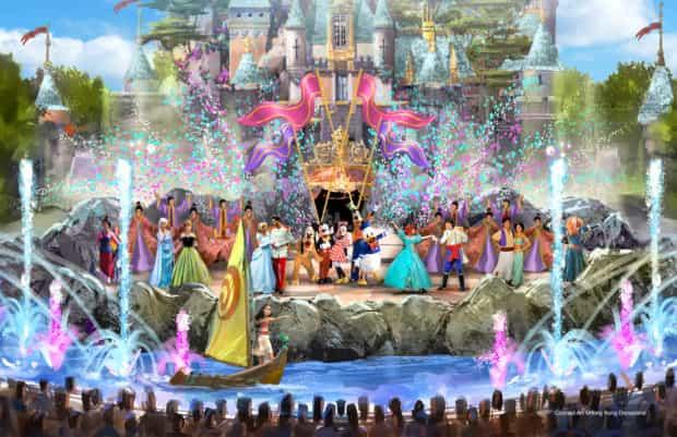 Hong Kong Disneyland castle daytime show