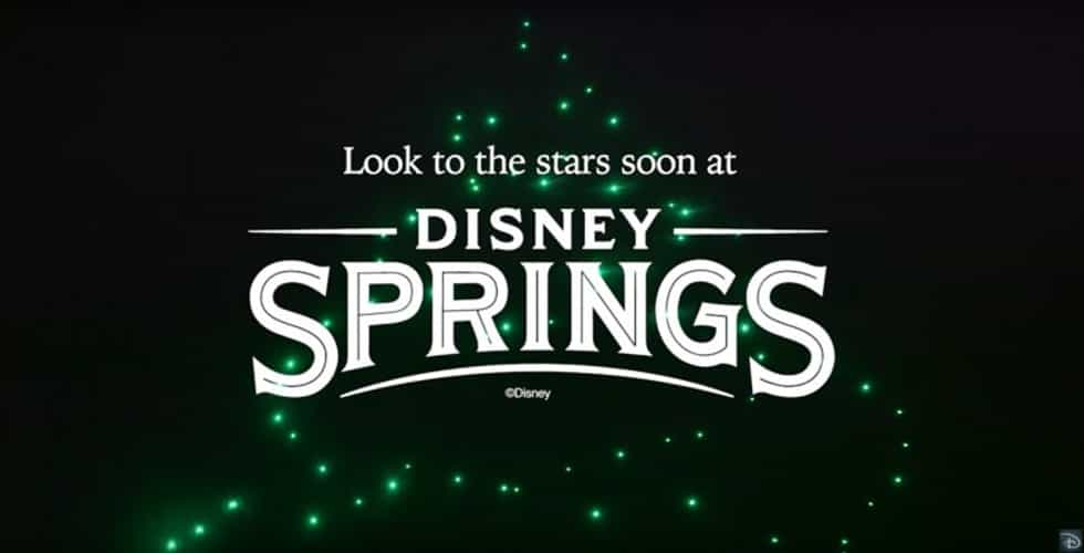 Drone Holiday Light Disney Springs