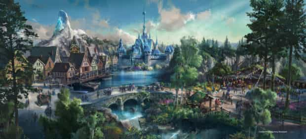 Hong Kong Disneyland Frozen land