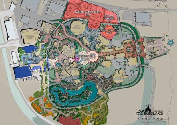 Hong Kong Disneyland expansion siteplan