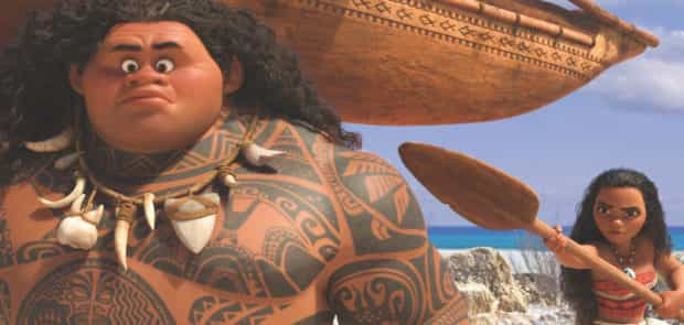 Maui (Dwayne Johnson) may be a demigod — half god, half mortal — but he's no match for Moana (Auli'i Cravalho), who's determined to sail out on a daring mission to save her people. Moana's first challenge is convincing Maui to join her.