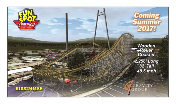 fun spot america kissimmee wooden coaster