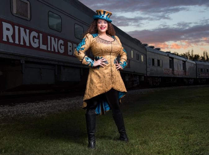 Kristen Michelle Wilson, the first-ever female and 39th ringmaster in Ringling Bros. and Barnum & Bailey history, stars in Circus Xtreme.