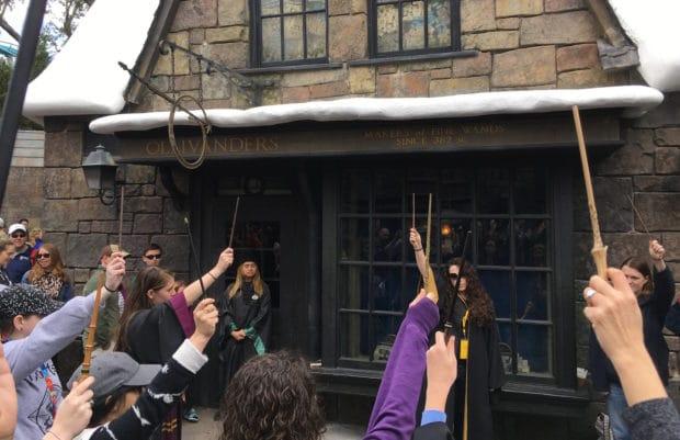 wand raise john hurt tribute wizarding world harry potter