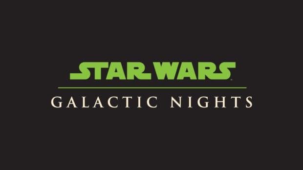 Star Wars galactic nights logo disney