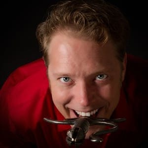 Central Florida's own resident sword swallower: Ted Campbell