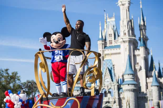 Super Bowl James White Goes to Disney World