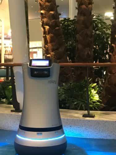 Universal Orlando Cabana Bay Relay room-service robots