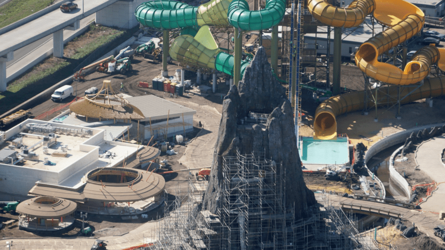 Krakatau's caldera will be the kick-off point for several of Volcano Bay's scariest slides.
