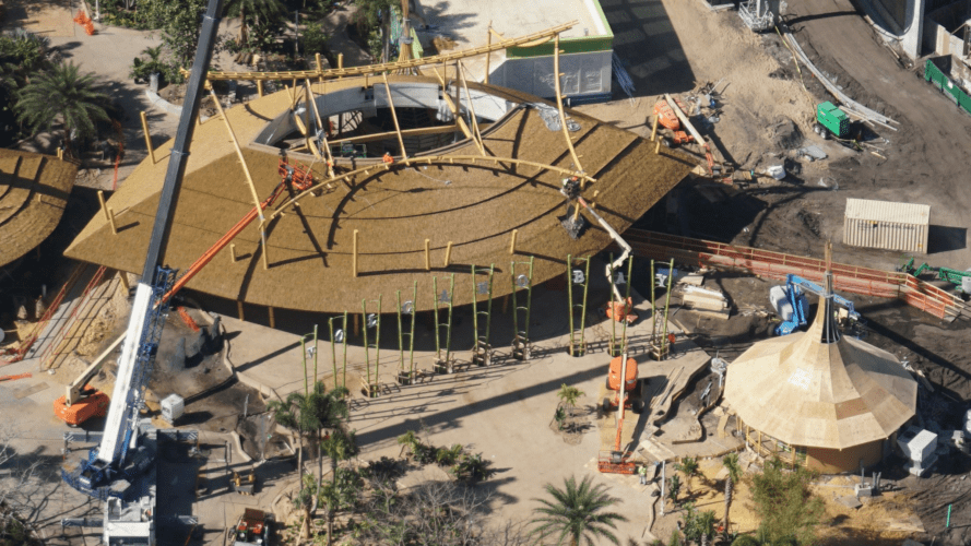 You can already see signs spelling out the park's name in front of Volcano Bay's entrance building.