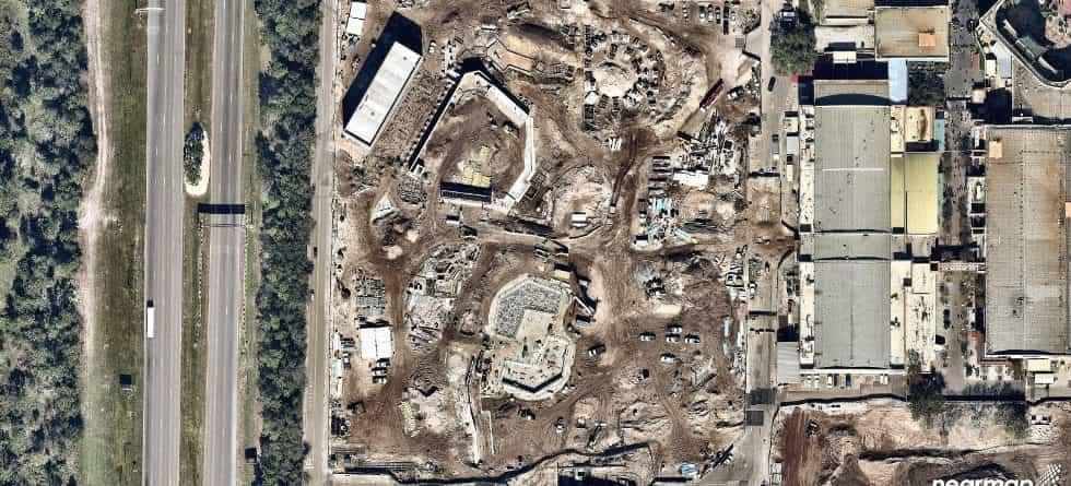 New Star Wars Land aerial photos show construction progress at Disney's Hollywood Studios