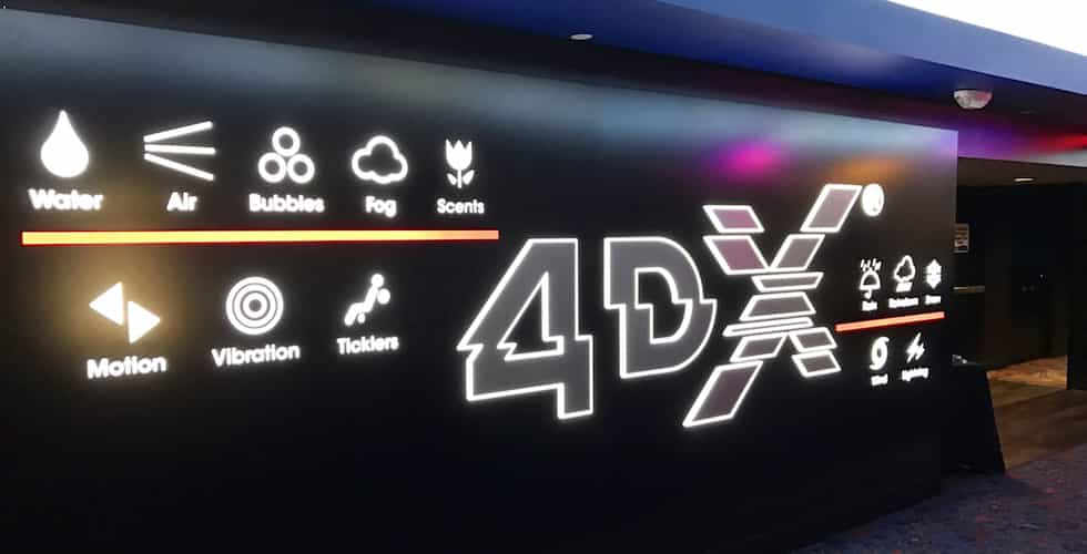 outside of 4dx theater