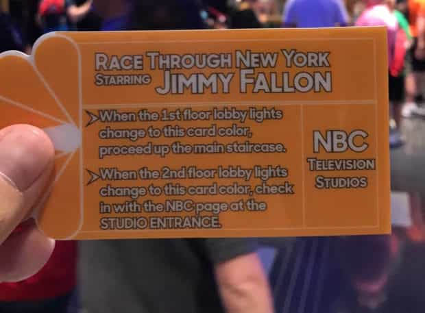 race through new york starring jimmy fallon universal orlando card
