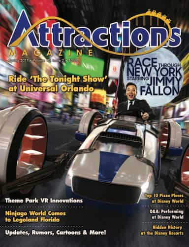 Cover of the spring 2017 issue of attractions magazine
