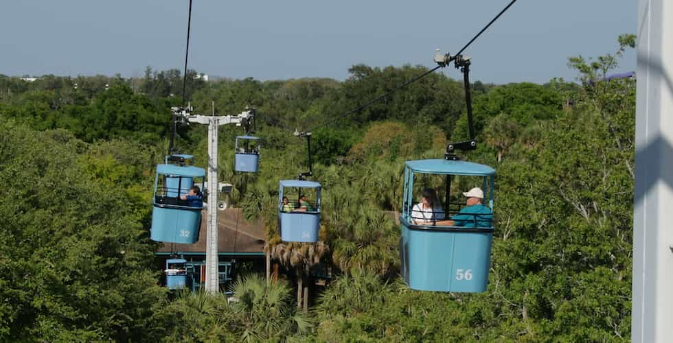 skyway system at Busch Gardens