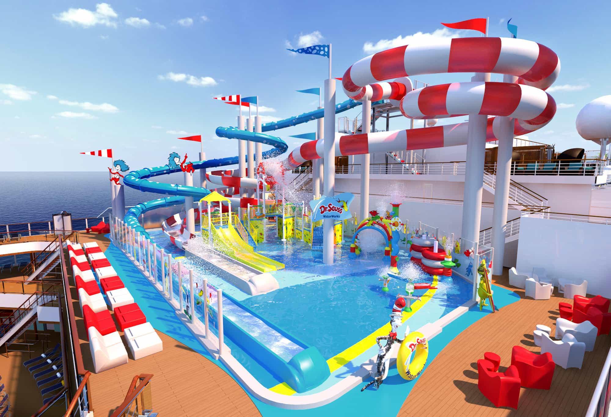 Dr. Seuss WaterWorks park debuts on Carnival Horizon in 2018