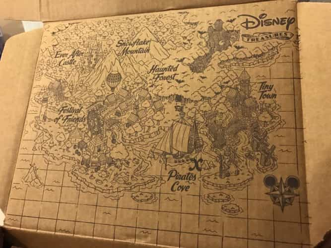 Disney Treasures Pirates Cove map