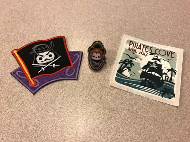 Disney Treasures Pirates Cove patch and pin