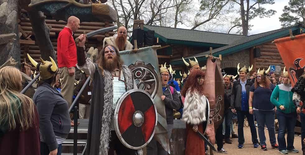 vikings at invadr roller coaster opening