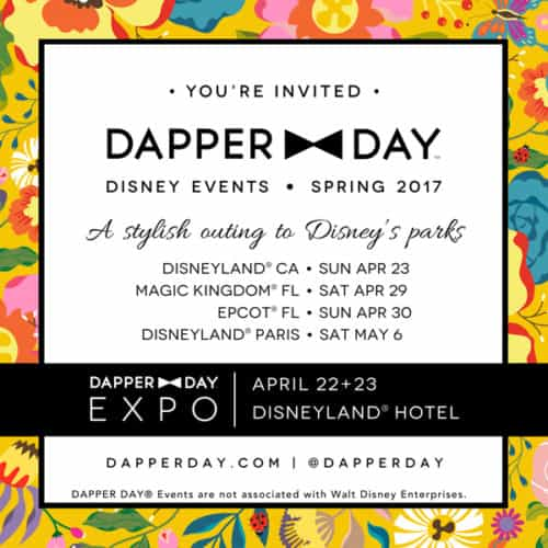 This spring, Walt Disney World will have two days dedicated to Dapper Day. Photo from dapperday.com