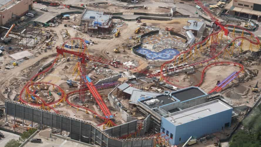 Slinky Dog coaster aerial photos