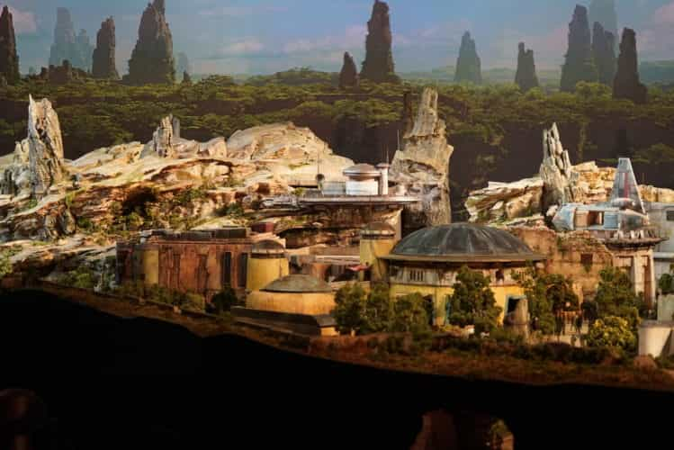 Star Wars Land model D23 Expo 2017