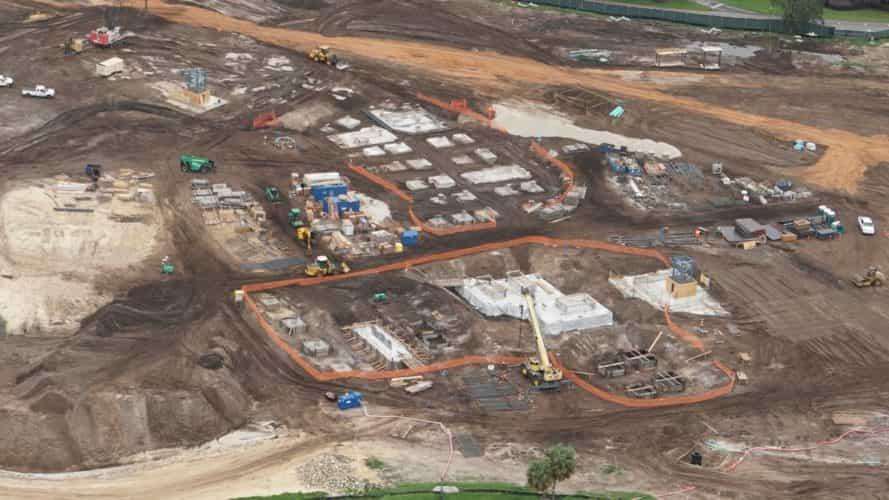 Construction photos around Walt Disney World from above